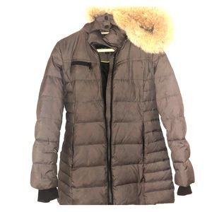 Marc New York Andrew Marc Puffer Jacket Fur Trim